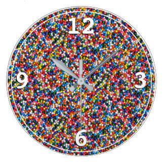Grande Horloge Ronde Coloré arrose les enfants intelligents d'enfants