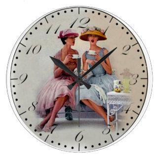 Grande Horloge Ronde Copie vintage des années 1930