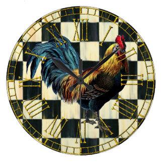Grande Horloge Ronde Coq vintage sur le contrôle