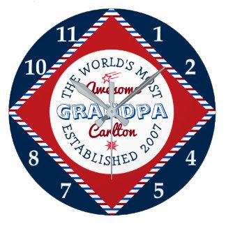 Grande Horloge Ronde Créez le logo du grand-papa le plus impressionnant