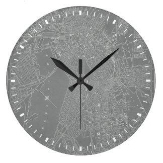 Grande Horloge Ronde Croquis de carte de ville de Boston