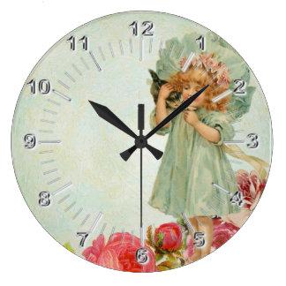 Grande Horloge Ronde Cru d'enfant