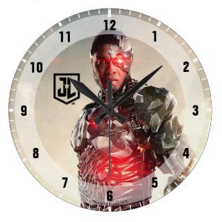 Grande Horloge Ronde Cyborg de la ligue de justice | sur le champ de
