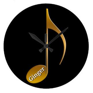 Grande Horloge Ronde Danseurs nommés personnalisés de musiciens de la
