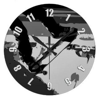Grande Horloge Ronde Demi de Skateboarding de tuyau