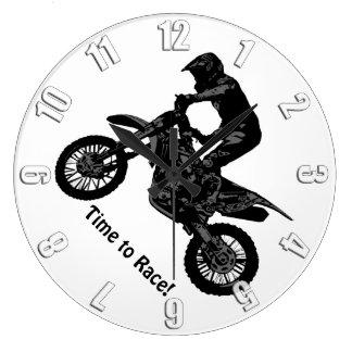 Grande Horloge Ronde emballage de Saleté-vélo