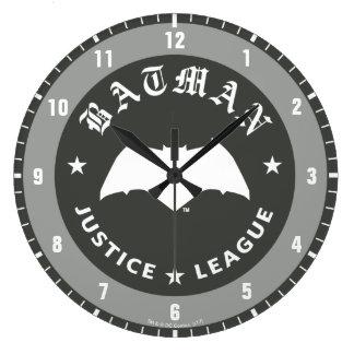 Grande Horloge Ronde Emblème de batte de la ligue de justice rétro |