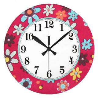 Grande Horloge Ronde Enfant de fleur