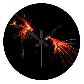 Grande Horloge Ronde Étincelles pilotant l'horloge