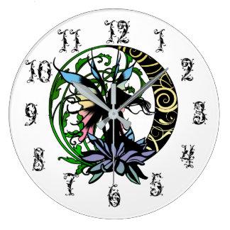 Grande Horloge Ronde Fée d'ombre de Lotus