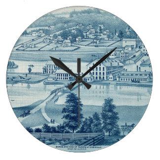 Grande Horloge Ronde Fer et boulon Co de Carpentersville l'Illinois