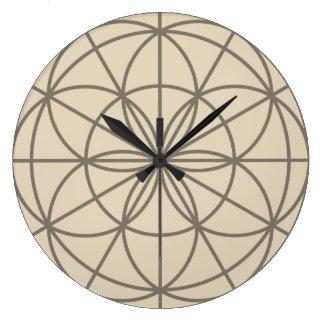 Grande Horloge Ronde Fleur d'horloge de la vie