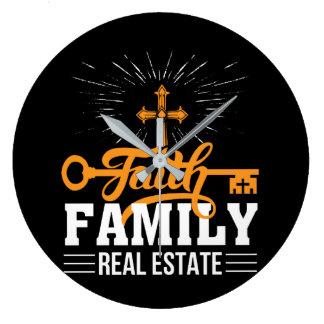 Grande Horloge Ronde Foi d'agent immobilier d'immobiliers de famille de