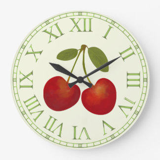 Grande Horloge Ronde Fruits rouges de cerises