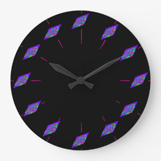 Grande Horloge Ronde Geeks Geeky de maths de la Science de TIGE de Sci