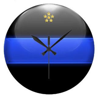 Grande Horloge Ronde Grade en chef mince d'insignes de Blue Line