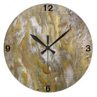 Grande Horloge Ronde Grains en bois
