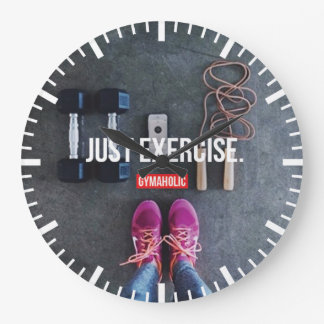 Grande Horloge Ronde Gymnase de motivation de forme physique