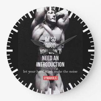 Grande Horloge Ronde Gymnase et motivation de forme physique -