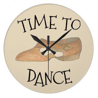 Grande Horloge Ronde Heure de danser le cadeau lyrique moderne bronzage