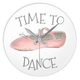 Grande Horloge Ronde Heure de danser le professeur de ballerine de