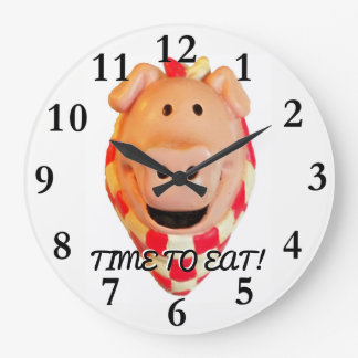 Grande Horloge Ronde Heure de manger, porc mignon