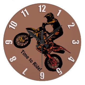 Grande Horloge Ronde Heure de monter ! - Emballage de motocross