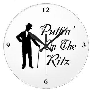 Grande Horloge Ronde Homme pimpant Puttin sur le Ritz