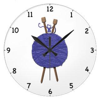 Grande Horloge Ronde Humour de tricotage