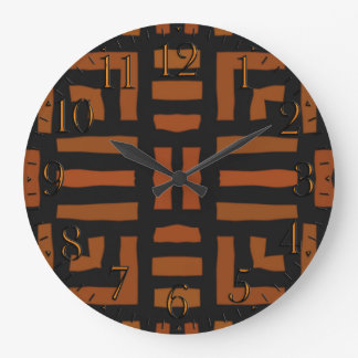 Grande Horloge Ronde Illustration tribale africaine chaude