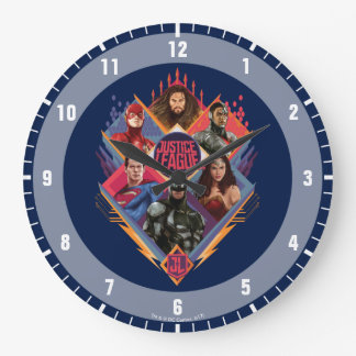 Grande Horloge Ronde Insigne de groupe de trappe de diamant de la ligue