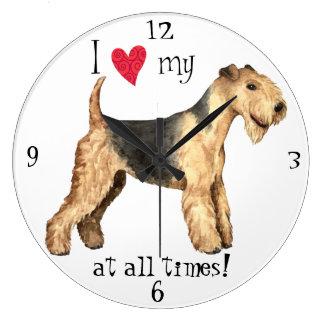 Grande Horloge Ronde J'aime la ma région des lacs Terrier