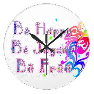 Grande Horloge Ronde Joyeux et libre heureux