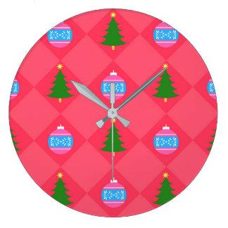 Grande Horloge Ronde Joyeux Noël