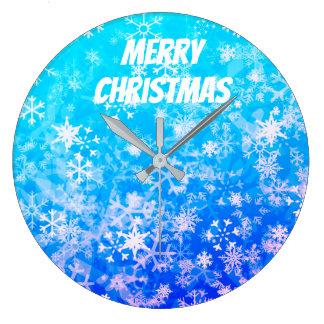 Grande Horloge Ronde Joyeux Noël et bonne année