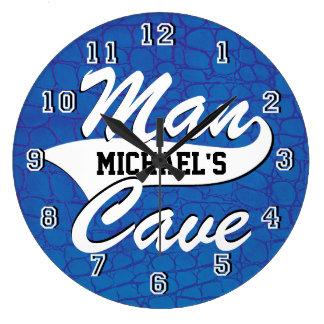 Grande Horloge Ronde La caverne d'homme personnalisent