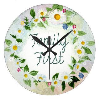 Grande Horloge Ronde La famille citent d'abord la conception florale