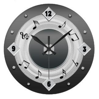 Grande Horloge Ronde La MUSIQUE NOTE AUTOUR de l'HORLOGE - tons