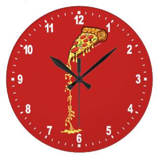 Grande Horloge Ronde La pizza est le meilleur