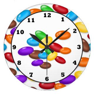 Grande Horloge Ronde La sucrerie laisse tomber l'horloge murale douce d