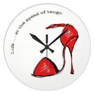 Grande Horloge Ronde La vie à la vitesse de l'horloge murale de tango