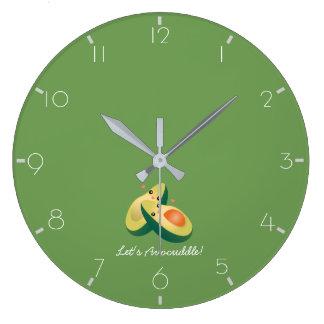 Grande Horloge Ronde Laissez-nous humour mignon drôle de calembour