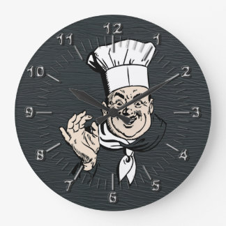 Grande Horloge Ronde Le chef approuvent