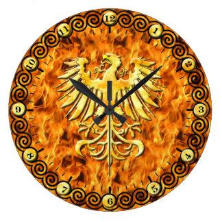 Grande Horloge Ronde Le feu de Phoenix