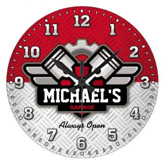 Grande Horloge Ronde Le garage usine la caverne Personalizable d'homme