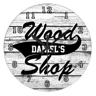 Grande Horloge Ronde Le magasin en bois personnalisent