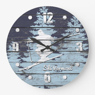 Grande Horloge Ronde Le ski incliné personnalisent