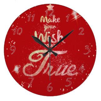 Grande Horloge Ronde Le souhait de Noël viennent vrai