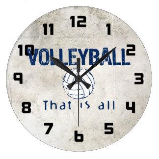 Grande Horloge Ronde Le volleyball, celui est tout