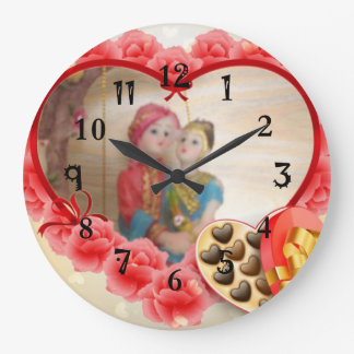 Grande Horloge Ronde Les beaux chocolats de coeur font gagner la date